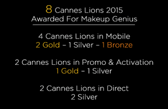 Makeup Genius is Honored with 8 Prestigious Cannes Lions Awards